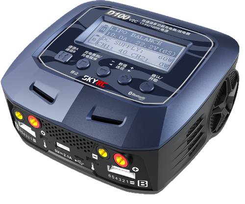 D100 V2 AC/DC DUAL BALANCE CHARGER/DISCHRARGER/POWER SUPPLY
