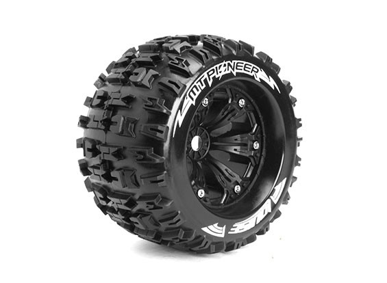 "MT-PIONEER 3.8"" TRUCK/SPORT/BLACK 1/2 OFFSET WHEEL #L-T3218BH"