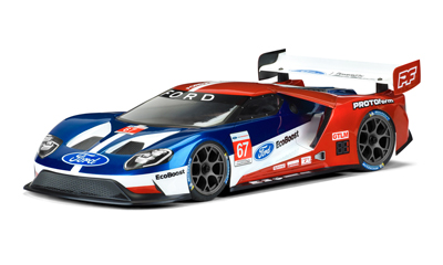 1/10 FORD GT LIGHT WEIGHT CLEAR BODY 190mm #1550-25