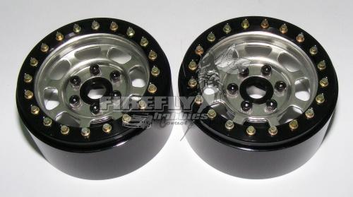 "1.9"" STEEL TRIAL WHEELS - SILVER 1PR #00079"