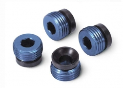 ALUMINUM PIVOT BALL CAPS (BLUE ANODIZED) #4934X