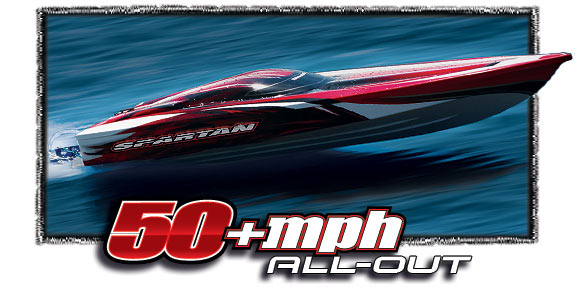 "Spartan Brushless 36"" RACE BOAT w/TQi 2.4GHz #57076-1"