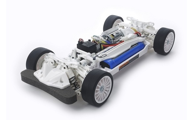 R/C TT02 CHASSIS KIT - WHITE EDITION #47364