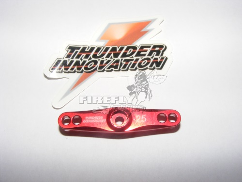 ALUMINUM THROTTLE SERVO HORN 25T - RED