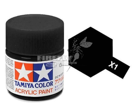 X-1 Black Acrylic 23ml. #81001