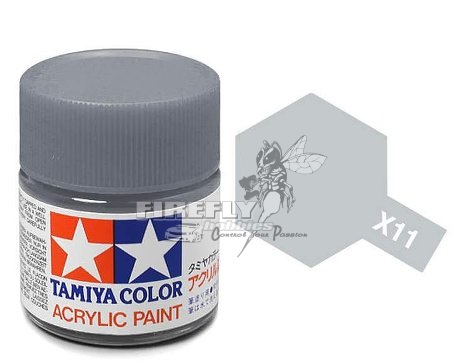 X-11 Chrome Silver Acrylic 23ml. #81011