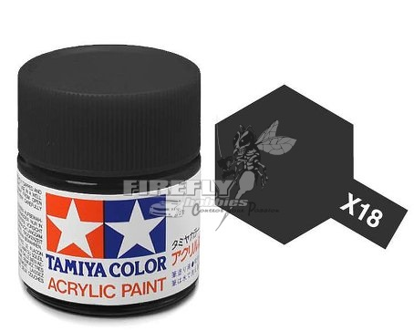 X-18 Semi Gloss Black Acrylic 23ml. #81018