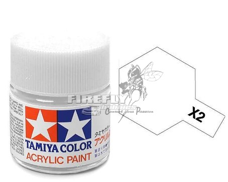 X-2 White Acrylic 23ml. #81002
