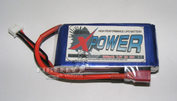 X-POWER 1300mAh 7.4V 25C LiPo BATTERY
