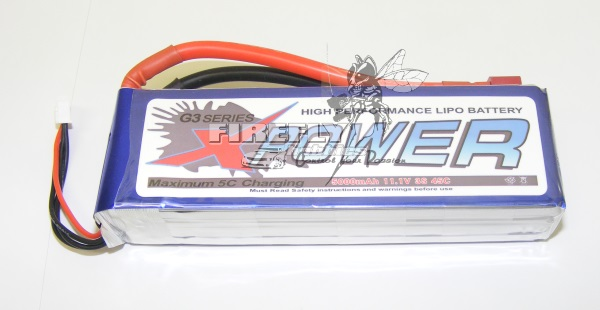 X-POWER 5000mAh 11.1V 45C 3S LIPO