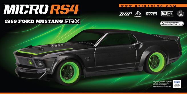 HPI Micro RS4 RTR w/1969 Mustang RTR-X Body #112468